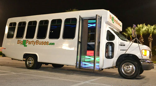 White Tiger Party Bus in Houston
